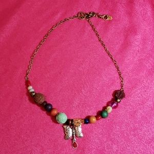 Lucky brand Boho beaded butterfly necklace set